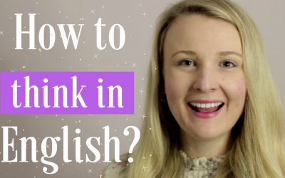 How to think in English?